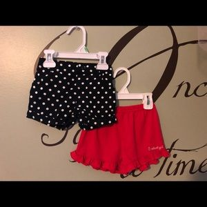 2 pair girls shorts size 2T Oshkosh & Garanomals